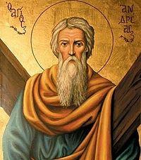 ��������� ����������� �����������. 323 x 368 px. ������ ����� 35662 b.  Holy Apostle Andrew.