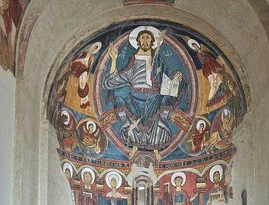 Изображение Христа из церкви Святого Климента в Тауле. Около 1123 г.