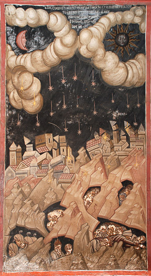 Апокалипсис. Фреска монастыря Дионисиат. Фото: А. Поспелов /<a class=