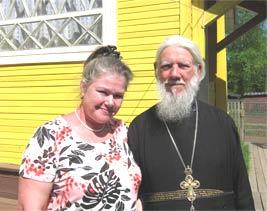 Вера Ивановна и отец Иоанн Хвощ