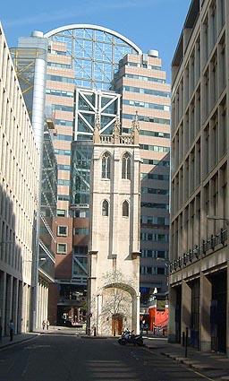 Башня бывшей церкви св. Албана на Вуд-Стрит