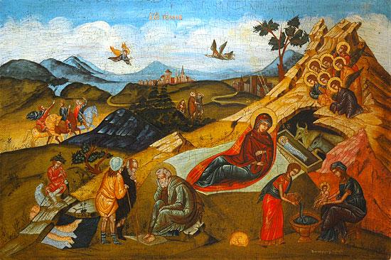 Рождество Христово. Современная греческая икона