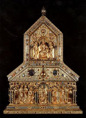 Золотой реликварий с мощами трех волхвов