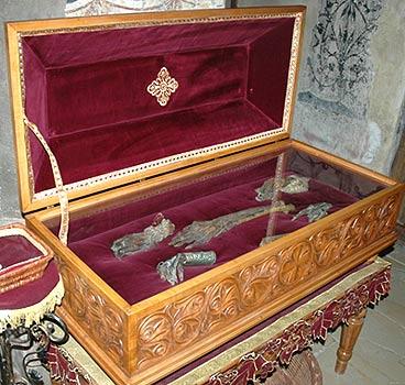 Ковчег с мощами святых Бранковичей в монастыре Крушедол. Фото:иером.Игнатий (Шестаков)