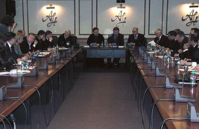 Участники круглого стола «Православный банкинг и финансовые инструменты в России»