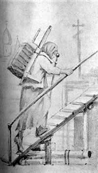 Блаженная Ксения на строительстве Смоленского храма
