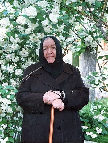 Abbess Barbara (Trofimova) of the Holy Dormition Piukhtitsa Convent.