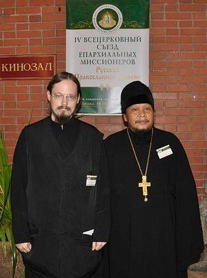 Диакон Георгий Максимов и иеромонах Иоасаф (Тандибиланг)