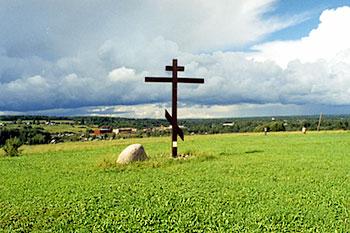 Крест в деревне Береза