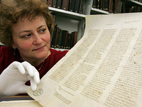 "In Leipzig Unversity library, the exhibition, ""Tischendorf in Search of the Oldest Bible in the world"" opened."
