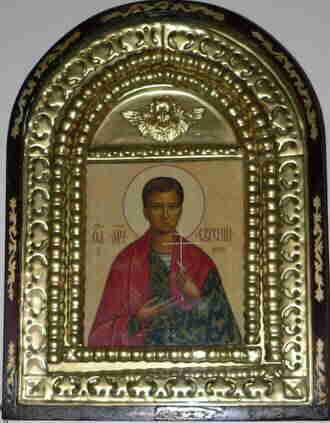 Икона мученика Евгения Родионова в Успенском соборе г. Астрахани