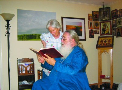 Протоиерей Георгий Джонсон и матушка Дебора