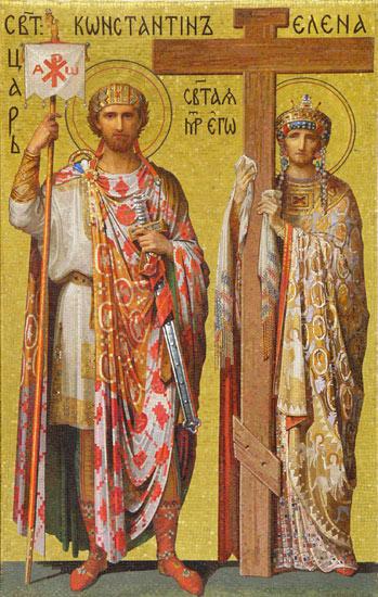 Равноапостольные Константин и Елена. Мозаика Исаакиевского собора, Санкт-Петербург.