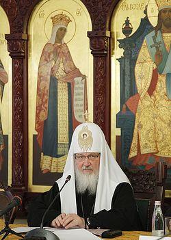 Загрузить увеличенное изображение. 546 x 767 px. Размер файла 141585 b.  His Holiness Patriarch Kirill of Moscow and All Russia, in Sretensky Monastery.