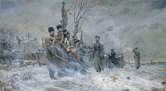 Павел Рыженко. Триптих «Царская Голгофа». Прощание государя с войсками. 2004