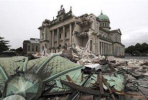 Землетрясение 22 февраля наполовину разрушило католический собор