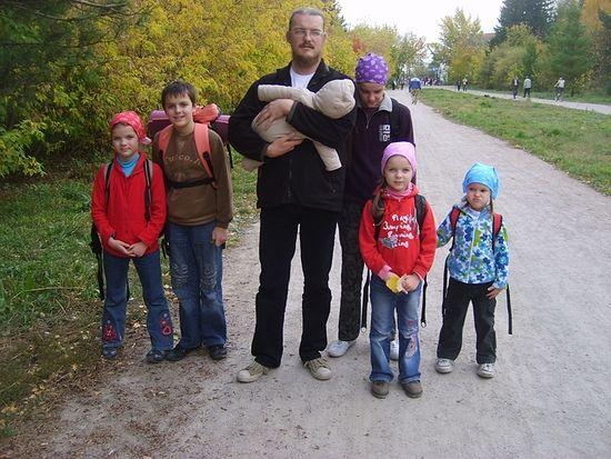 Священник Андрей Ромашко с семьёй