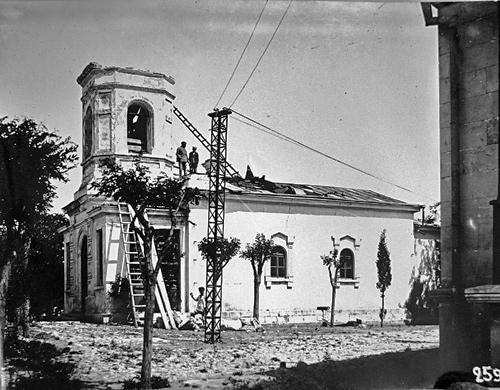 Разборка колокольни храма в честь Семи сщмчч. Херсонесских. 1927 г.