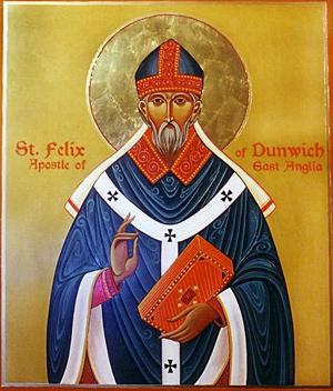 Святитель Феликс, апостол Восточной Англии