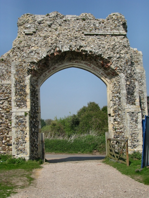 Развалины древнего католического монастыря в Данвиче, Саффолк