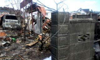 Церковь Благовещения в Ямада. Цунами снесло здание церкви. Остались лишь бетонные стены