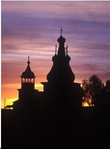 Hodegitria Church, sunset