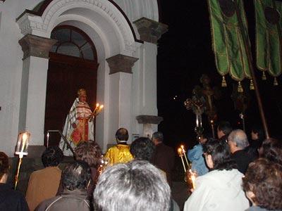 Храм Воскресения Христова в Хакодатэ. Пасхальный крестный ход и возгласы «Христос воскресе» на японском и русском языках
