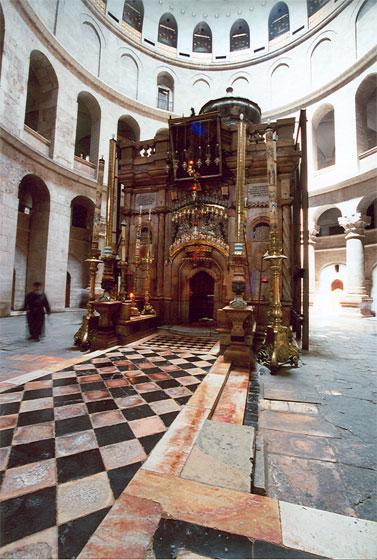 Кувуклия - священная часовня над Гробом Господним в храме Воскресения Христова