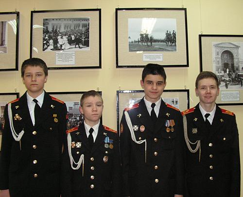 Юные воспитанники Московского казачьего кадетского корпуса