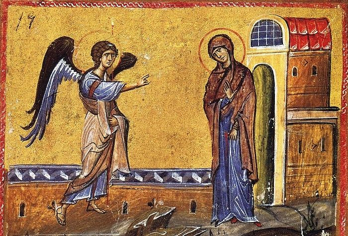The Annunciation of the Virgin.