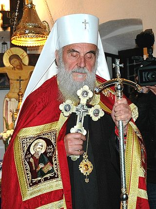 Загрузить увеличенное изображение. 492 x 656 px. Размер файла 287557 b.  Святейший Патриарх Сербский Ириней. Фото:Православие.Ru/иером.Игнатий (Шестаков)