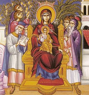 Icon of the Laudation of the Mother of God