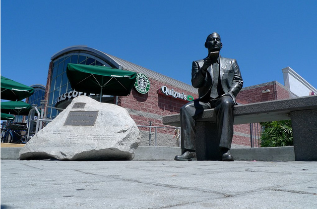 """When in L.A., stop by """"Little Tokyo"""" and there you will see a life–sized statue of Orthodox Christian, Chiune Sugihara, dedicated in his honor."""