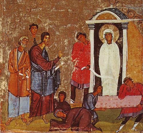 Воскрешение прав. Лазаря. Синайская икона