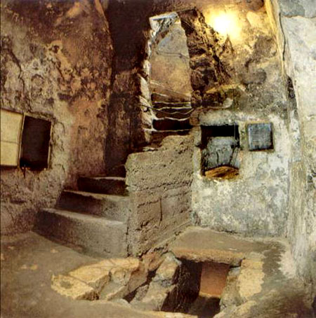 Steps leading to Lazarus' tomb, Bethany.