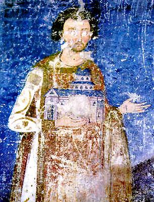 Святой Стефан-Владислав. Фреска в монастыре Милешева