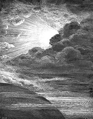 Гюстав Доре. Иллюстрация к Библии. «И сказал Бог: да будет свет. И стал свет» (Быт. 1.3)