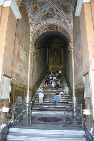 Загрузить увеличенное изображение. 600 x 903 px. Размер файла 184916 b.  Святая лестница (Лестница Пилата)