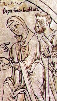 Преподобные Гутлак и его сестра Пега