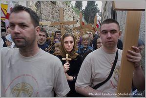 Holy Friday procession in Jerusalem