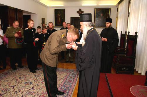На приеме у Сербского Патриарха Иринея
