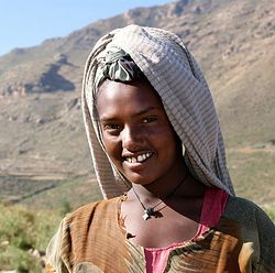 Ethiopian Christian girl