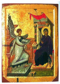 Благовещение. Македония. Начало IV века. Галерея икон в Охриде