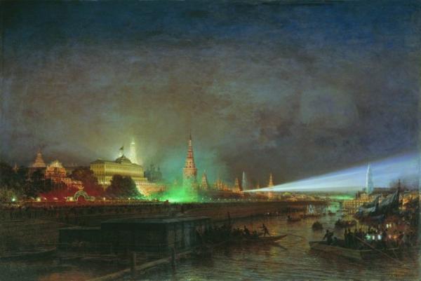 Боголюбов. Иллюминация Кремля
