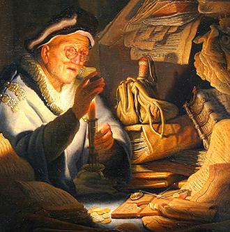 Рембрандт. Притча о богаче