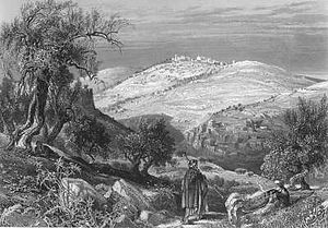 View of the Mount of Olives from Mount Zion. From vol. 1 of Picturesque Palestine