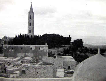 View of the monastery from the Acension chapel. 1942