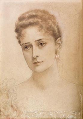 Автопортрет, акварель, написанная Царицей.