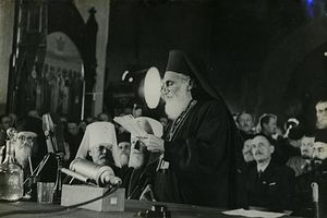 Загрузить увеличенное изображение. 640 x 426 px. Размер файла 53998 b. Поместный Собор Русской Православной Церкви 1945 г.