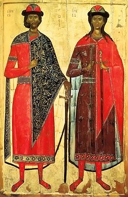 St. Boris and Gleb. Early confessors of the Russian land.